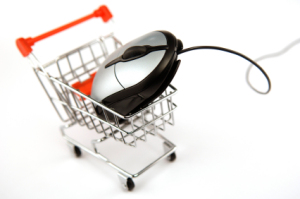 Shopping cart with mouse