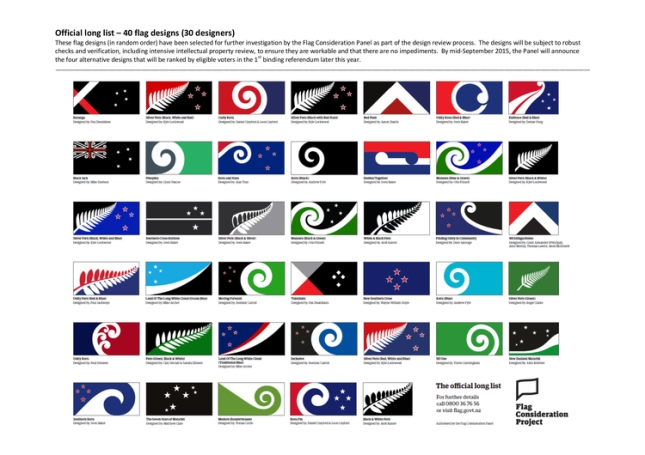 The final 40 as picked by the Flag Consideration Panel